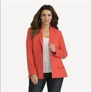 Kardashian Kurve blazer peach plus size 24W